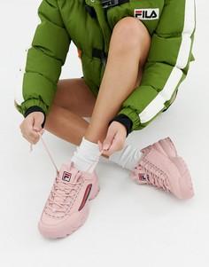 Розовые премиум-кроссовки с логотипом Fila Disruptor 2 rs - Розовый