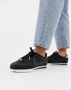 Черно-золотистые кроссовки Nike Cortez - Черный