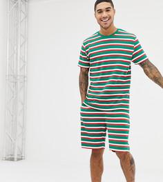 Новогодняя пижама в полоску ASOS DESIGN - Мульти