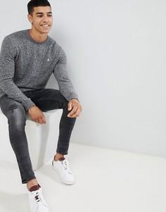 Серый меланжевый джемпер с добавлением шерсти и круглым вырезом Jack Wills Rye - Серый