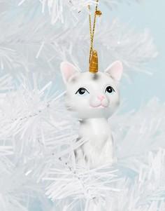 Новогодняя елочная игрушка в виде кота-единорога Typo - Мульти