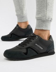 Черные кроссовки с замшевыми вставками Tommy Hilfiger - Черный