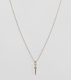 Позолоченное серебряное ожерелье с подвеской-кинжалом Regal Rose - Золотой