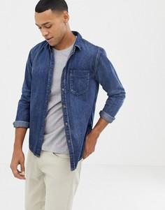 Джинсовая рубашка на пуговицах Nudie Jeans Co Henry - Синий