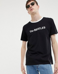 Черная футболка Pretty Green x The Beatles - Черный