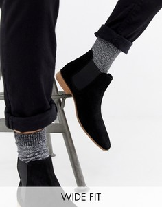 Замшевые ботинки челси для широкой стопы KG by Kurt Geiger - Черный