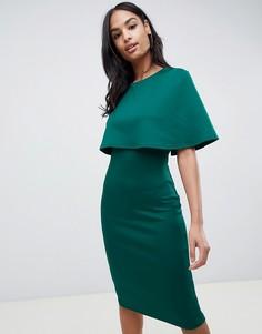 Платье миди с кейпом Club L - Зеленый