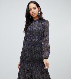 Плиссированное платье миди с цветочным принтом Vero Moda Tall - Мульти