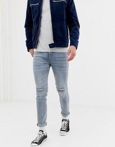 Голубые джинсы скинни D-Struct - Светло-бежевый