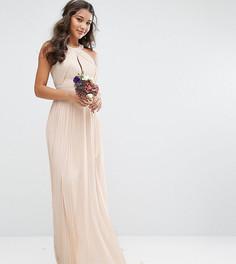 Нежно-розовое плиссированное платье макси TFNC Bridesmaid - Розовый