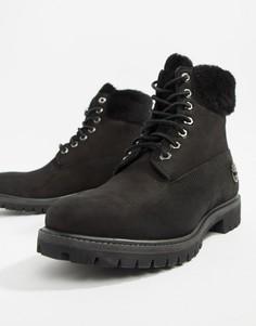 Премиум-ботинки с отделкой искусственным мехом Timberland 6 дюймов - Черный