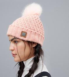 Розовая шапка-бини Roxy Blizzard - Розовый