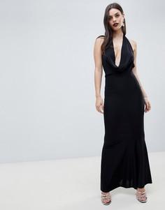 Платье макси со свободным воротом ASOS DESIGN - Черный