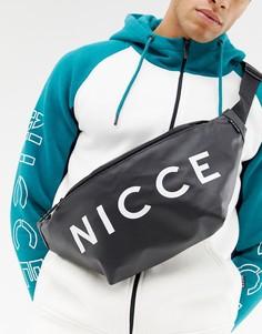 Черная сумка-кошелек на пояс с логотипом Nicce - Черный