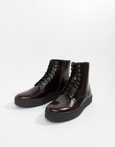 Бордовые ботинки на шнуровке Zign - Красный