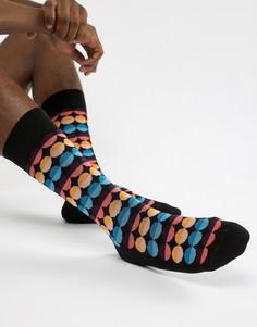 Черные носки в горошек Paul Smith - Черный