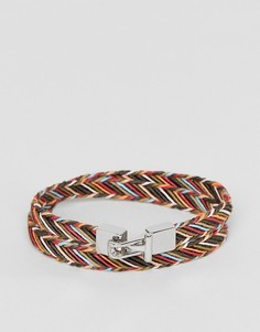 Разноцветный кожаный браслет в полоску Paul Smith - Мульти