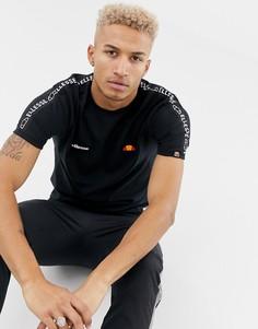 Черная футболка с фирменной лентой на рукавах ellesse Fede - Черный
