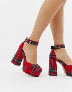 Туфли на каблуке и платформе ASOS DESIGN Porcelain - Красный