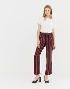 Широкие брюки в полоску Parisian - Красный