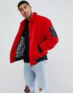 Красная флисовая куртка boohooMAN - Красный