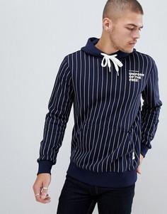 Худи темно-синего цвета в тонкую полоску G-Star uniform of the free - Темно-синий