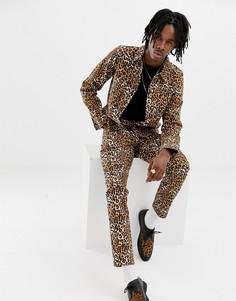 Джинсовая куртка с леопардовым принтом ASOS DESIGN - Рыжий