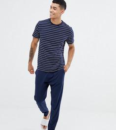 Темно-синий пижамный комплект в полоску New Look - Темно-синий