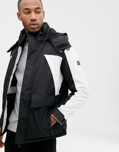 Горнолыжная куртка черного и белого цвета Bershka - Черный