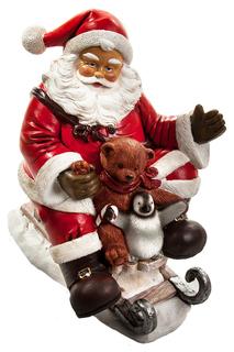 Скульптура Дед мороз на санях SIMPLE ART