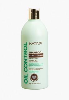 """Шампунь Kativa OIL CONTROL Шампунь """"Контроль"""" для жирных волос 500мл Kativa"""
