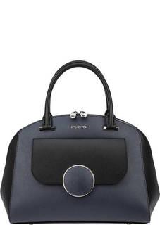 Кожаная сумка с широким плечевым ремнем Fiato