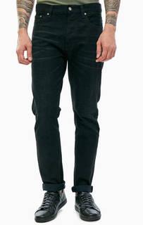 Черные зауженные джинсы с заломами Fearless Freddie Nudie Jeans