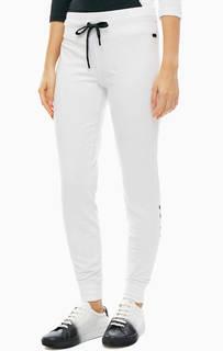 Белые брюки из хлопка с манжетами Dkny