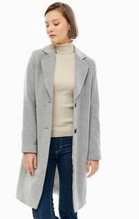 Шерстяное пальто серого цвета Marc Opolo