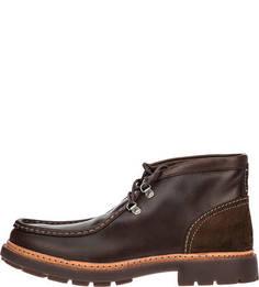Кожаные ботинки коричневого цвета Trace Ramble Clarks
