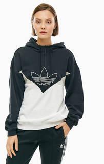 Толстовка из хлопка с вышитым логотипом бренда Adidas