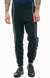 Черные хлопковые брюки джоггеры Adidas