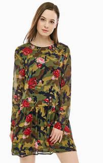 Короткое платье камуфляжной расцветки MY Twin