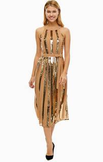 Платье с расклешенной юбкой с декором из пайеток Twinset Milano