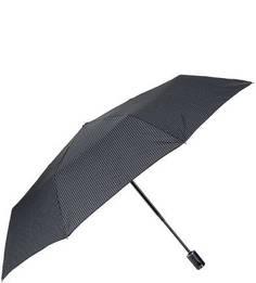 Складной автоматический зонт с куполом серого цвета Doppler
