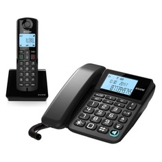 Радиотелефон ALCATEL S250 Combo RU, черный [atl1418958]