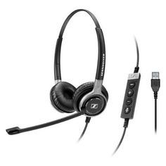 Наушники с микрофоном SENNHEISER SC 660 USB ML, накладные, черный [504553]