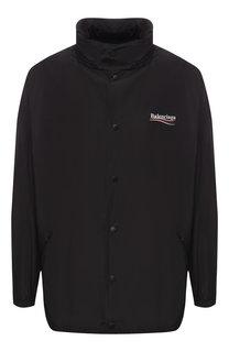 Куртка на кнопках с капюшоном Balenciaga