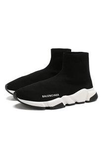 Текстильные кроссовки Speed без шнуровки Balenciaga