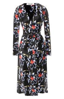 Шелковое платье-миди с запахом Diane Von Furstenberg