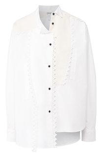 Хлопковая блуза асимметричного кроя Loewe