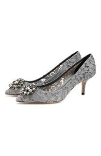 Кружевные туфли Rainbow Lace Dolce & Gabbana
