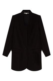 Черное пальто из шерсти Stella Mc Cartney