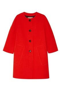 Оранжевое пальто из чистой шерсти Marni